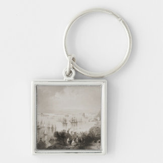 Cobh Harbour, Cork, Ireland Silver-Colored Square Key Ring