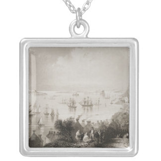 Cobh Harbour, Cork, Ireland Silver Plated Necklace