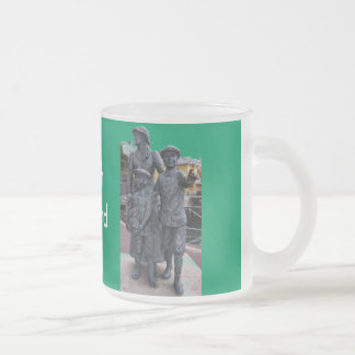 Cobh, Ireland Statues Frosted Glass Mug