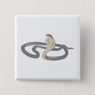 Cobra 15 Cm Square Badge