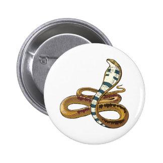 cobra 6 cm round badge
