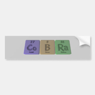 Cobra-Co-B-Ra-Cobalt-Boron-Radium.png Bumper Sticker