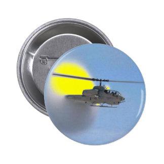 cobra helicopter 6 cm round badge