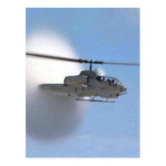 cobra helicopter postcard