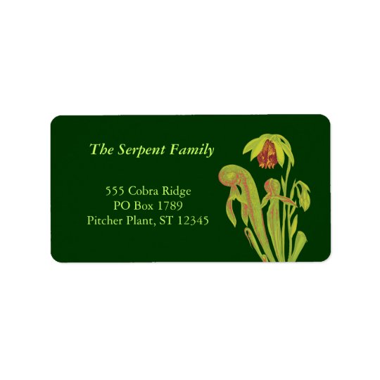 Cobra Plant Address Labels