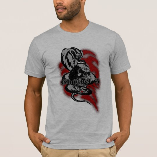 Cobra Skull Creepy Snake Illustration T-Shirt