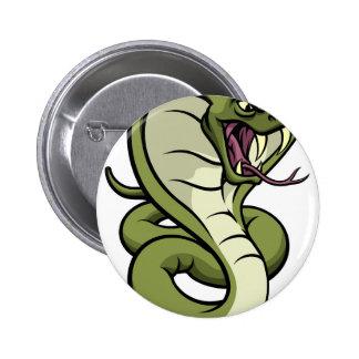 Cobra Snake Viper Mascot 6 Cm Round Badge