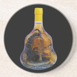 Cobra Snake Vs Scorpion Whiskey Yadong Lao Coaster