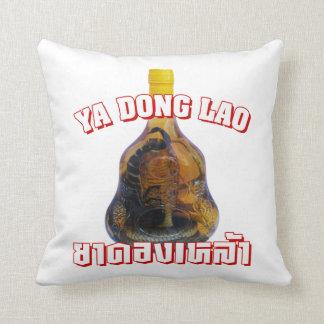 Cobra Snake Vs Scorpion Whiskey Yadong Lao Throw Pillow