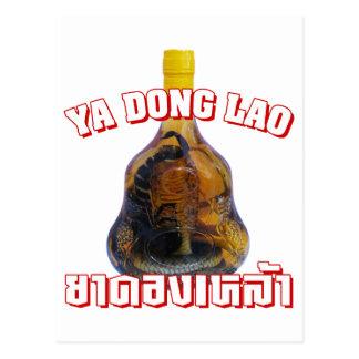 Cobra Snake Vs Scorpion Whiskey Yadong Lao Post Card
