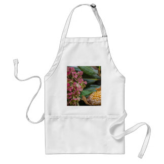 cobs and dried  hydrangea standard apron