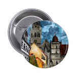 coburg germany castle and church watercolour art pin