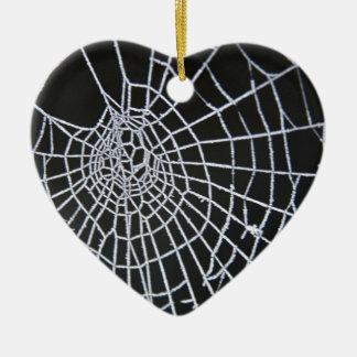 Cobweb Ceramic Heart Decoration