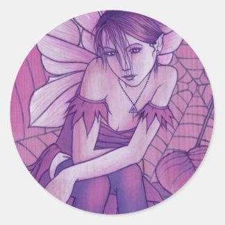 cobweb classic round sticker