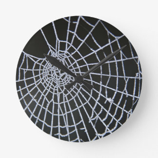 Cobweb Round Clock