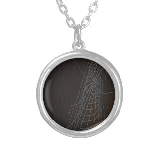 Cobweb Silver Plated Necklace