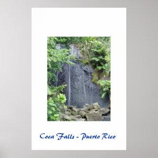 Coca Falls - Puerto Rico Poster
