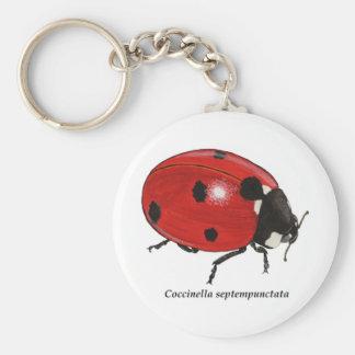 Coccinella_septempunctata Basic Round Button Key Ring