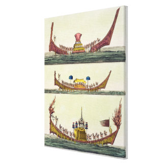 Cochin Chinese ships, illustration from 'Le Costum Canvas Print