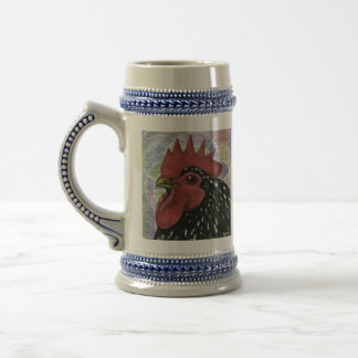 Cochin:  Decorative Rooster Head Beer Stein