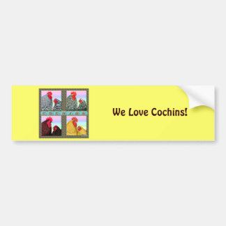 Cochins Four Colors Bumper Sticker