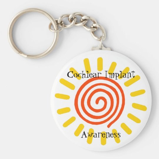 Cochlear Implant Awareness Keychain