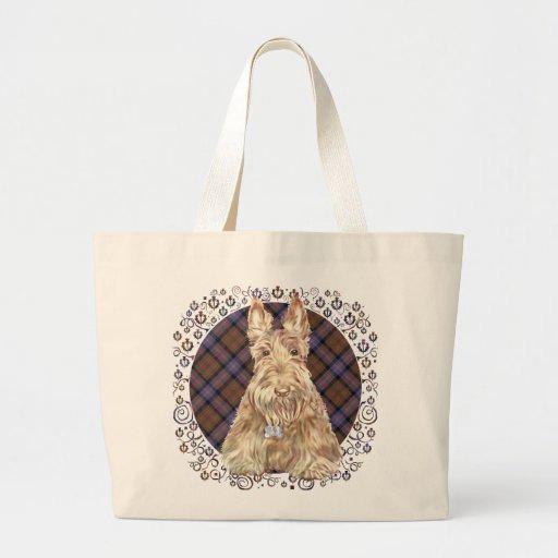 Cochran Tartan Scottie Tote Bags