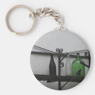 cocina basic round button key ring