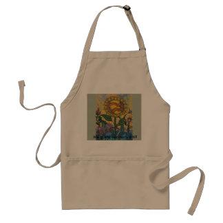 Cocina idiot arte, cook with art standard apron