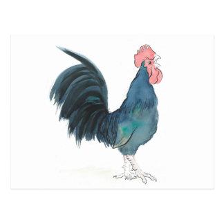 Cock-a-doodle-doo Cockerel Postcard