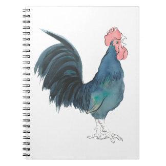 Cock-a-doodle-doo Cockerel Spiral Notebook