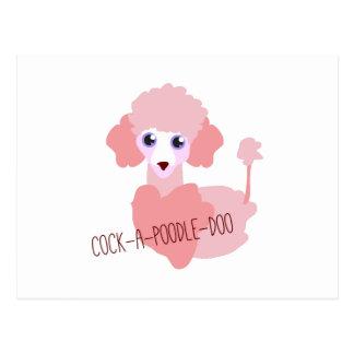 Cock-a-Poodle-Doo Postcard
