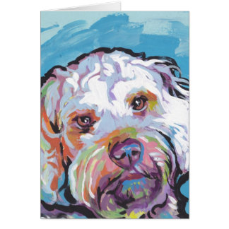 Cockapoo Bright Colorful Pop Dog Art Card