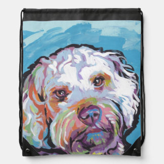 Cockapoo Bright Colorful Pop Dog Art Drawstring Bag