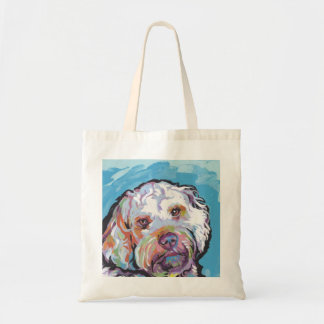 Cockapoo Bright Colorful Pop Dog Art Tote Bag