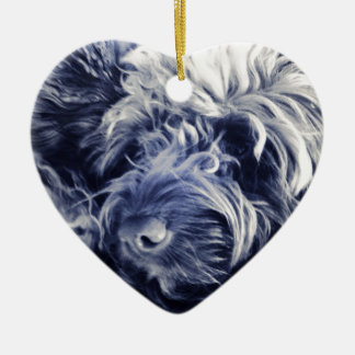 Cockapoo Ceramic Heart Decoration