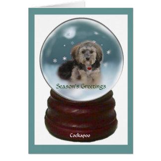 Cockapoo Christmas Gifts Card