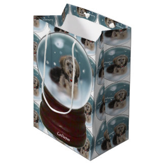 Cockapoo Christmas Medium Gift Bag