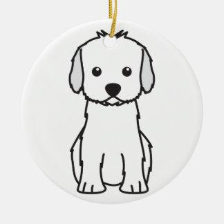 Cockapoo Dog Cartoon Christmas Ornament