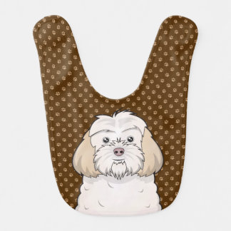 Cockapoo Dog Cartoon Paws Bib
