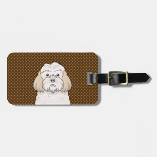 Cockapoo Dog Cartoon Paws Luggage Tag