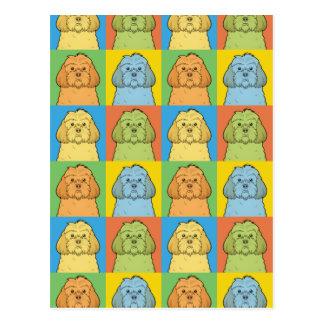 Cockapoo Dog Cartoon Pop-Art Postcard