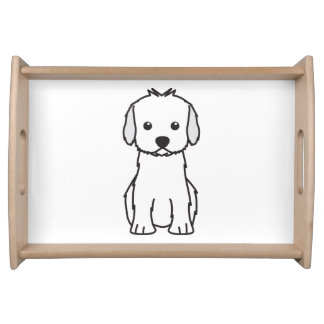 Cockapoo Dog Cartoon Serving Tray