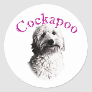 Cockapoo Dog Classic Round Sticker