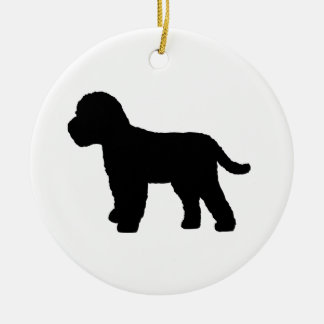 Cockapoo Dog Round Ceramic Decoration