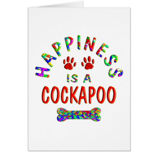 Cockapoo Happiness Card
