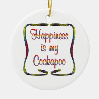 Cockapoo Happiness Christmas Ornament
