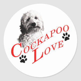Cockapoo Love Classic Round Sticker