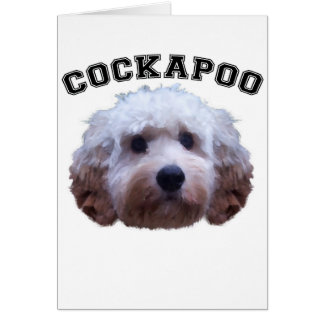 Cockapoo Puppy Card