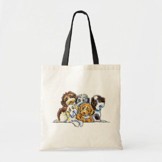 Cockapoo Rainbow Budget Tote Bag